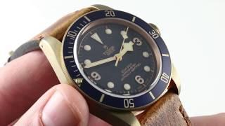 "Tudor Heritage Black Bay Bronze ""Blue Bucherer"" Edition 79250BB-0001 Luxury Watch Review"