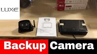 Digital wireless backup camera - Luxe luxury fifth wheel option