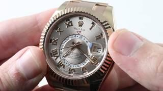 Rolex Sky-Dweller GMT ANNUAL CALENDAR 326935 Everose Luxury Watch Review