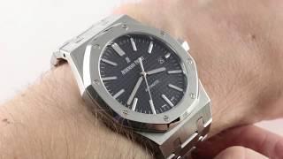 Audemars Piguet Royal Oak (BLACK DIAL) 15400ST.OO.1220S Luxury Watch Review