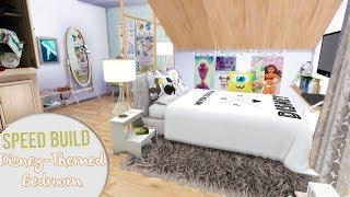 The Sims 4 Speed Build | DISNEY-THEMED BEDROOM + CC Links