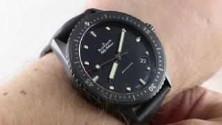 Blancpain Fifty Fathoms Bathyscaphe Black Ceramic 5000-0130-B52 Luxury Watch Reviews