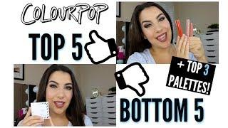 Top 5 Bottom 5: COLOURPOP MAKEUP