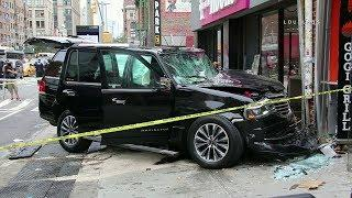 Manhattan: Uber SUV Crashes Into Restaurant