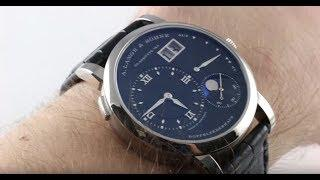 A. Lange & Sohne Lange 1 Moon Phase 192.029 Luxury Watch Review