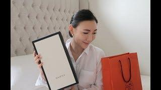 LUXURY UNBOXING & TRY ON HAUL | Hermes, Gucci, Net-a-porter Shopping, Tata Harper | LUXY THEORY