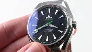 "Omega Seamaster Aqua Terra ""Golf GREEN"" 231.10.42.21.01.001 Luxury Watch Review"
