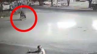 On cam: Speeding luxury car hits bike, rider flung several feet in the air