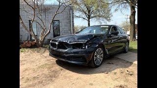 2017 BMW 530i xdrive - и снова аукцион, отличилась Страховка на этот раз. Авто из Америки.