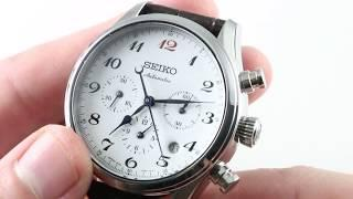 Seiko Presage ENAMEL 60th Anniversary Chronograph Limited Edition SRQ019 Luxury Watch Reviews