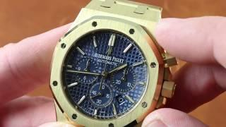 Audemars Piguet Royal Oak Chronograph BLUE DIAL 26320BA.OO.1220BA.02 Luxury Watch Review