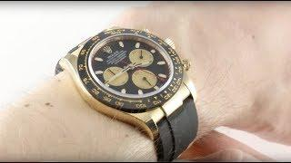 Rolex Cosmograph Daytona Oysterflex Strap 116518LN Luxury Watch Review