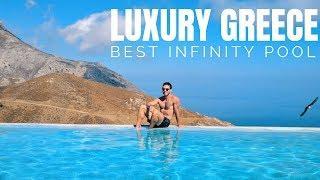 LUXURY GREEK TRAVEL: BEST INFINITY POOL IN GREECE?!