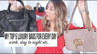 TOP 5 LUXURY EVERY DAY BAGS! *FENDI BAG GIVEAWAY*